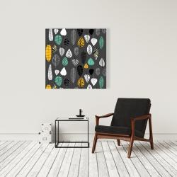 Canvas 36 x 36 - Leaves illustration