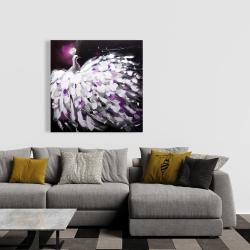 Canvas 36 x 36 - Purple peacock