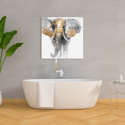 Canvas 36 x 36 - Golden elephant
