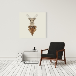 Canvas 36 x 36 -  deer with brown coat