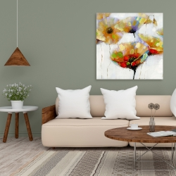 Canvas 36 x 36 - Color spotted flowers