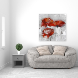 Canvas 36 x 36 - Abstract poppies
