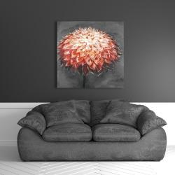 Canvas 36 x 36 - Abstract dahlia flower