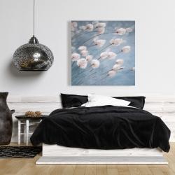 Canvas 36 x 36 - Delicate cotton flowers
