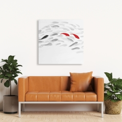Canvas 36 x 36 - Swimming fish wave