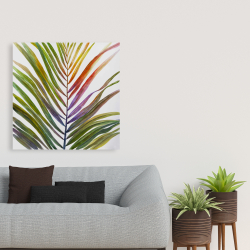 Canvas 36 x 36 - Watercolor tropical palm leave