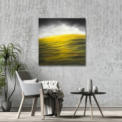 Canvas 36 x 36 - Yellow hill