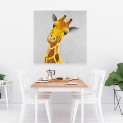 Canvas 36 x 36 - Curious giraffe