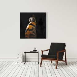 Canvas 36 x 36 - Spotted cat
