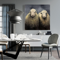 Canvas 36 x 36 - Wool sheeps