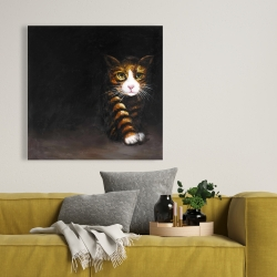 Toile 36 x 36 - Chat discret