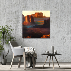 Canvas 36 x 36 - Monument valley tribal park in arizona