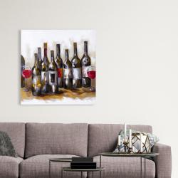 Canvas 36 x 36 - Red wine bottles
