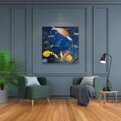 Canvas 36 x 36 - Colorful fish under the sea