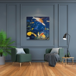 Canvas 36 x 36 - Colorful fish under the sea