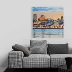 Canvas 36 x 36 - Skyline of quebec city