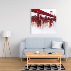 Canvas 36 x 36 - Red bridge