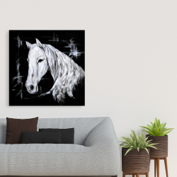 Canvas 36 x 36 - Abstract horse profile view
