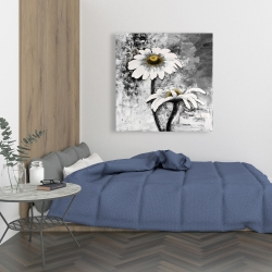 Canvas 36 x 36 - Abstract daisies flowers