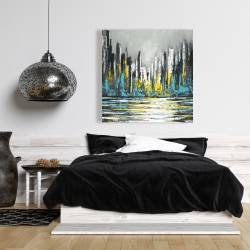Canvas 36 x 36 - Abstract blue skyline