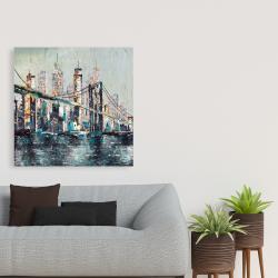 Toile 36 x 36 - Pont abstrait et texturé