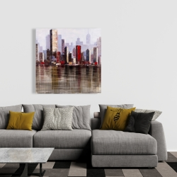 Canvas 36 x 36 - Industrial city style