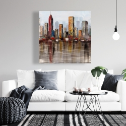 Canvas 36 x 36 - Rust looking city