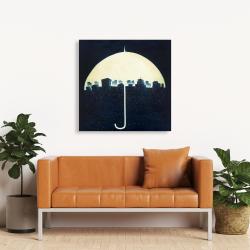 Canvas 36 x 36 - The city under the umbrellas