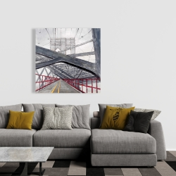 Canvas 36 x 36 - Under the brooklyn bridge