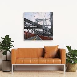Canvas 36 x 36 - Brooklyn bridge architecture