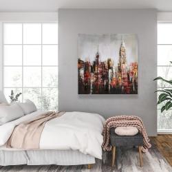 Canvas 36 x 36 - Paint splash city