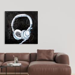 Toile 36 x 36 - écouteurs