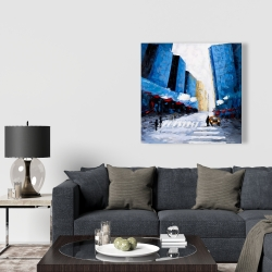 Canvas 36 x 36 - Blue buildings