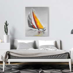 Canvas 36 x 48 - Two colors sailing boat