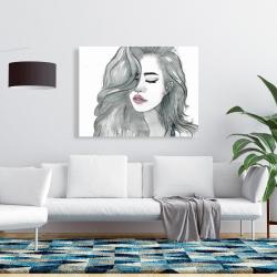 Canvas 36 x 48 - Beautiful female hair
