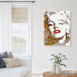 Canvas 36 x 48 - Marilyn monroe with typography