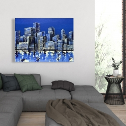 Canvas 36 x 48 - City in blue