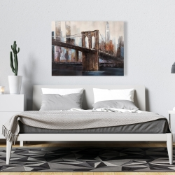 Canvas 36 x 48 - Urban brooklyn bridge