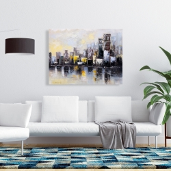 Canvas 36 x 48 - Abstract city in the morning