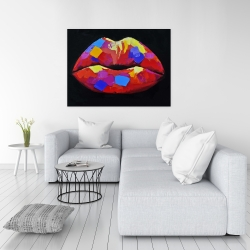 Canvas 36 x 48 - Colorful lipstick