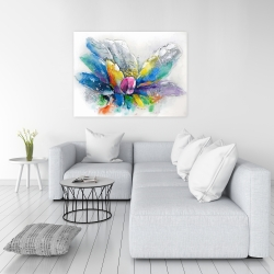 Canvas 36 x 48 - Abstract flower with newspaper