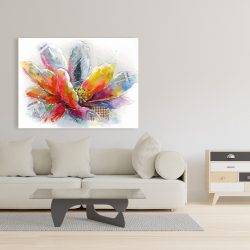 Canvas 36 x 48 - Abstract flower with texture