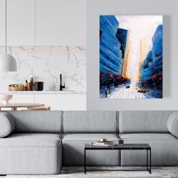 Canvas 36 x 48 - Blue asymmetrical street