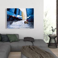 Canvas 36 x 48 - Blue buildings