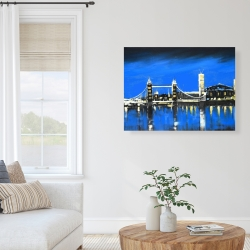 Canvas 36 x 48 - Blue skyline of london