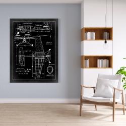 Toile 36 x 48 - Schéma d'avion