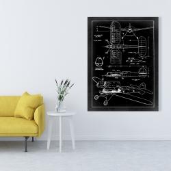 Canvas 36 x 48 - Plane plan