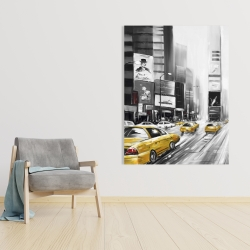Canvas 36 x 48 - Times square and yellow taxis