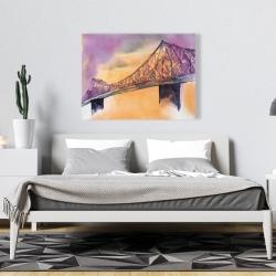Canvas 36 x 48 - Montreal jacques-cartier bridge