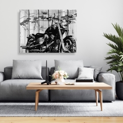 Canvas 36 x 48 - Motorcycle grey and black